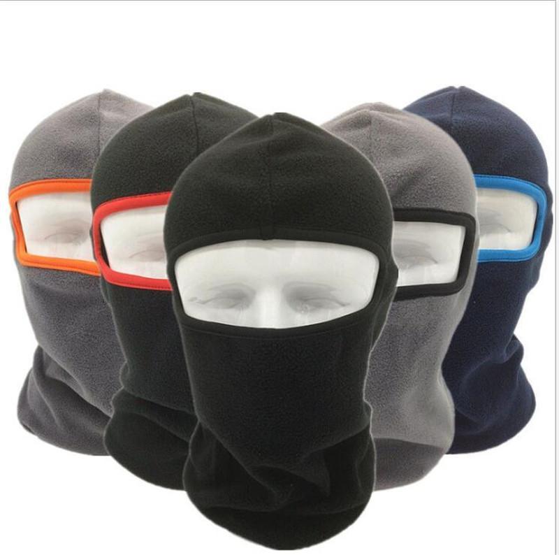 Kış Termal Polar Yüz Maskesi Balaclava Açık Motosiklet Bisiklet Windproof Tam Yüz Kapak Boyun Isıtıcı tozluk Tüp Şapka Bere