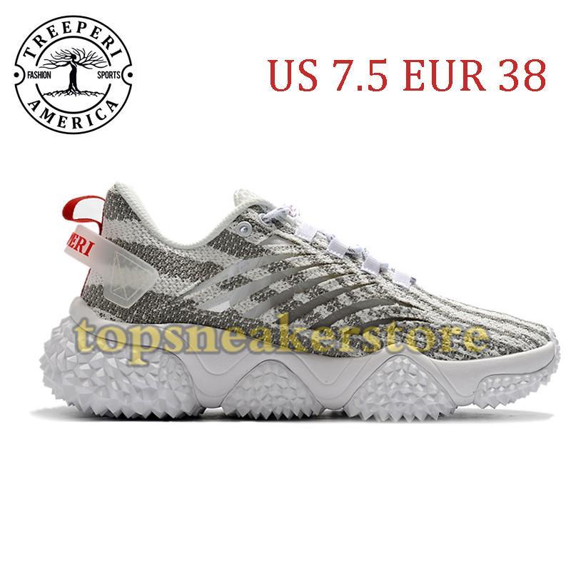 Nova Chegada Treeperi Durian Chunky V1 Sole Sole Sapatos Correndo Cinzento Zebra US 7.5 EUR 38 para Mulheres Treinadores