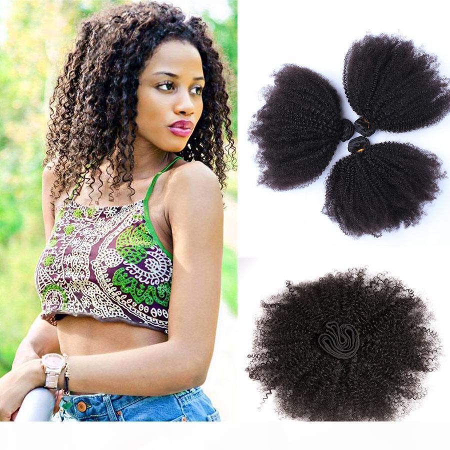 9А перуанского Сырье Inaian Бразильских кутикул выравнивание волос Remy человеческих волосы Afro Kinky завитый Extensioon Dhgate