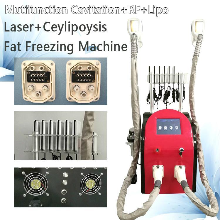5 in 1 Cryolipolysis Cavitation RF + Facial RF + 40K Lipo-Laser-Maschine Fat Einfrieren Maschine Cryo Therapie Fettabbau Ausrüstung