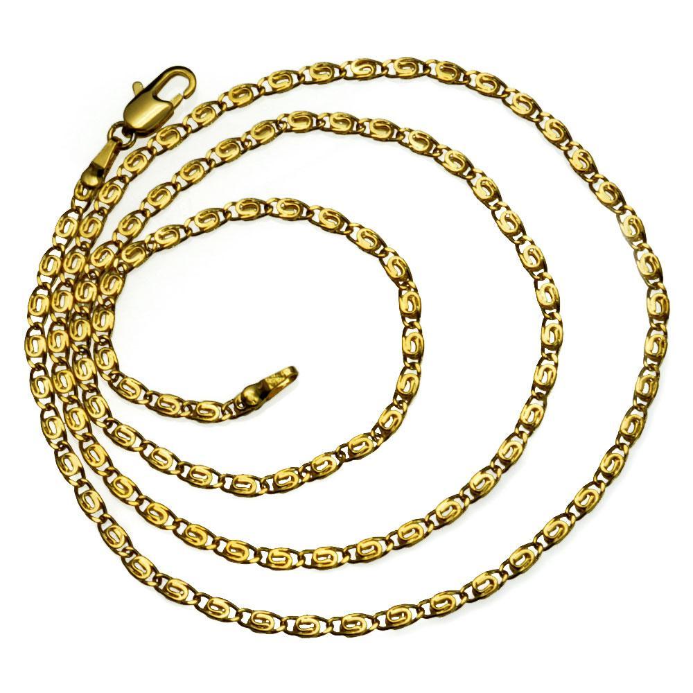 18k gelbes Gold füllte Frauen Halskette Augengliederkette Schmuck Luxus N290