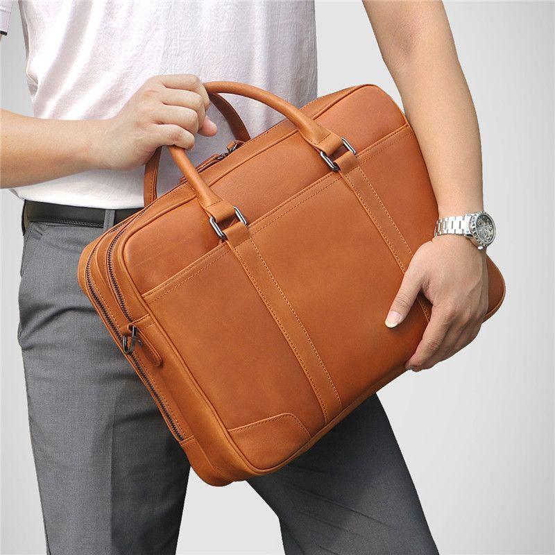 Nesitu de haute qualité noir marron véritable cuir véritable homme portefographie sacs de voyage business bags 14 '' portable portefeuille LJ200930