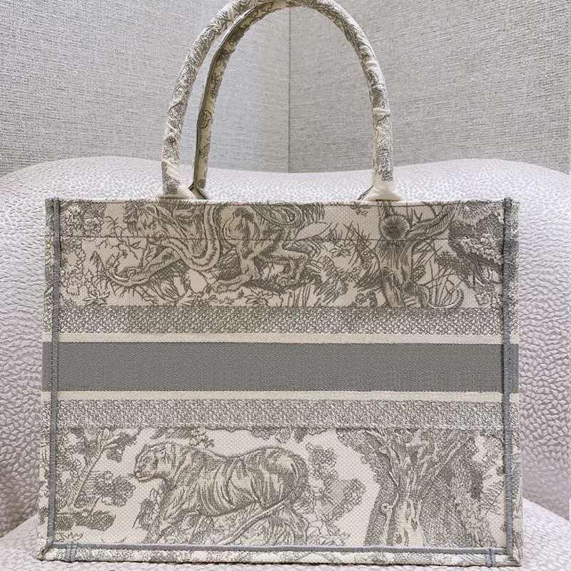 2020 nuevo patrón de tigre bordado de gran capacidad de lujo del bolso del bolso del bolso de compras grande de la marca hecha a mano de flores de doble cara