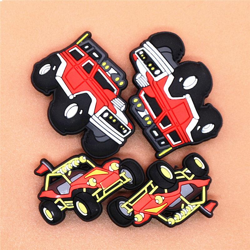 Off-Road Car Model Shoe Charm SUV Shoe Buckle Accessories Original Sandal Decorations Kid's Party Gifts