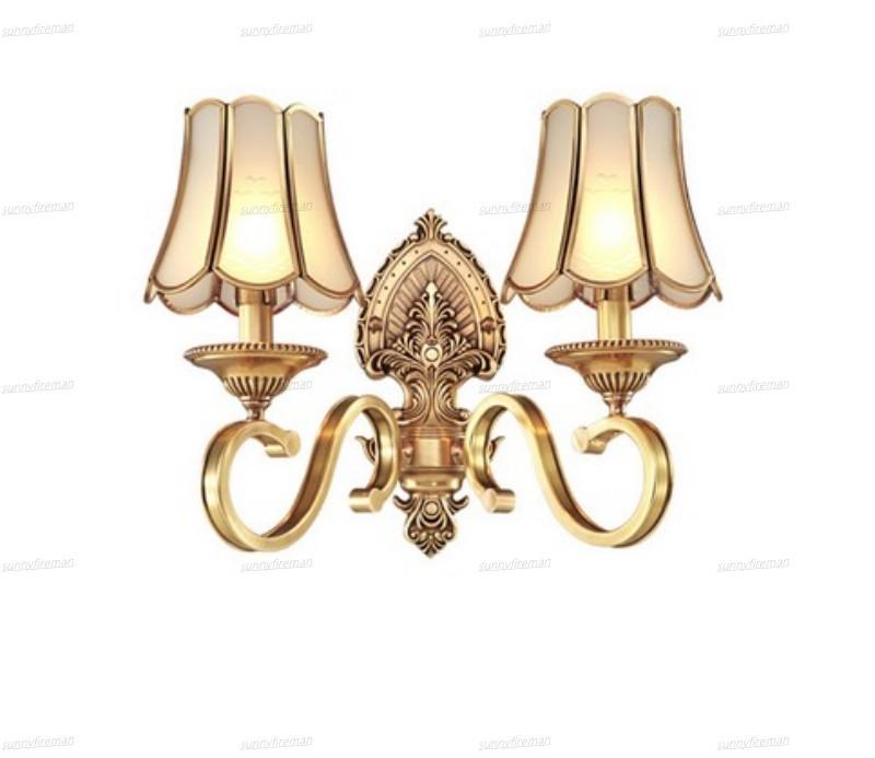 estilo europeu, todos parede cobre lâmpada de cabeceira quarto quente vivendo corredor parede sala de TV com lâmpada de parede interruptor de tração