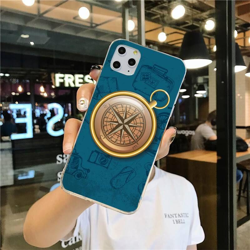 náutica Negro caja del teléfono de la célula recién llegados para iPhone 11 Pro XS MAX 8 7 6 6S Plus X 5S SE ancla brújula