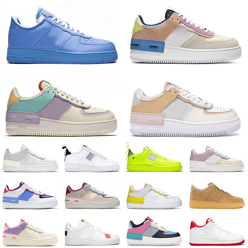 force 1 shadow force af1 off white all'ingrosso 2020 Top Quality Men Women Running Sport Shoes Classic Shadow White Barely Rose Pale Ivory Metallic Basketball Skateboat