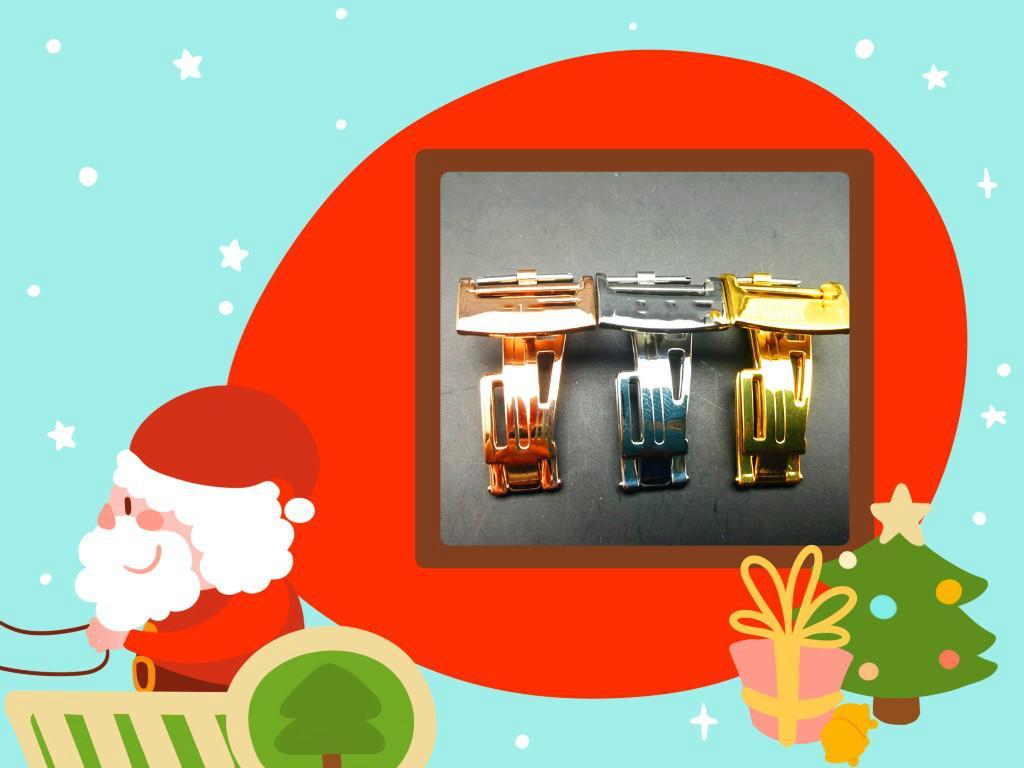 Elegante e generoso, acessórios do relógio de aço inoxidável borboleta fivela, adequado para alternativas de marca. Gold / Silver / 18 milímetros Rose