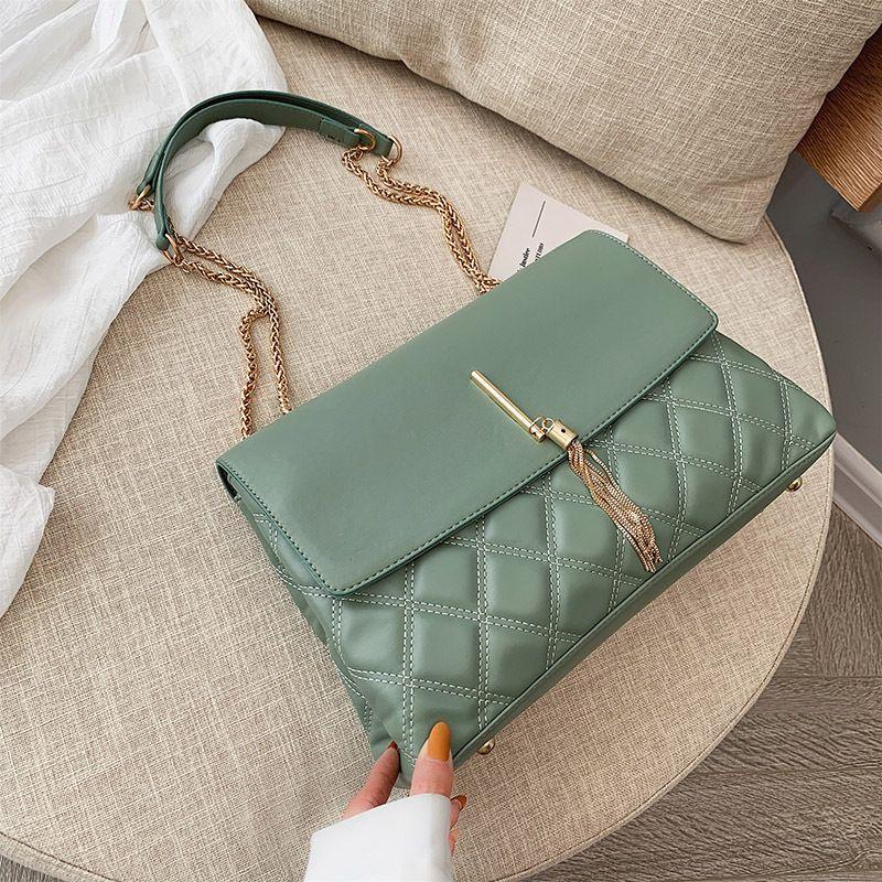 Chain Lingge Retro Purse New Bags Women Ftbhi Handbags Pu Bags Leather Bag Tassel Luxurys Large Crossbody Lady Big Designers Tote Shoul Mtoo