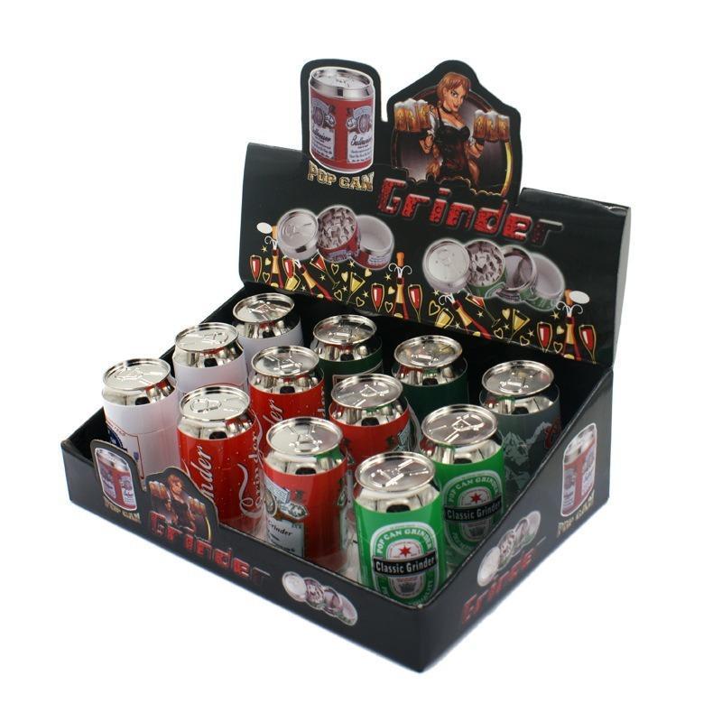 Kräutermühle Mini Dosen Metall Zigarettenschleifer Cola Flasche Kleine Zigarettenschleifer 4 Schicht Metall Zigarettenschleifmaschinen