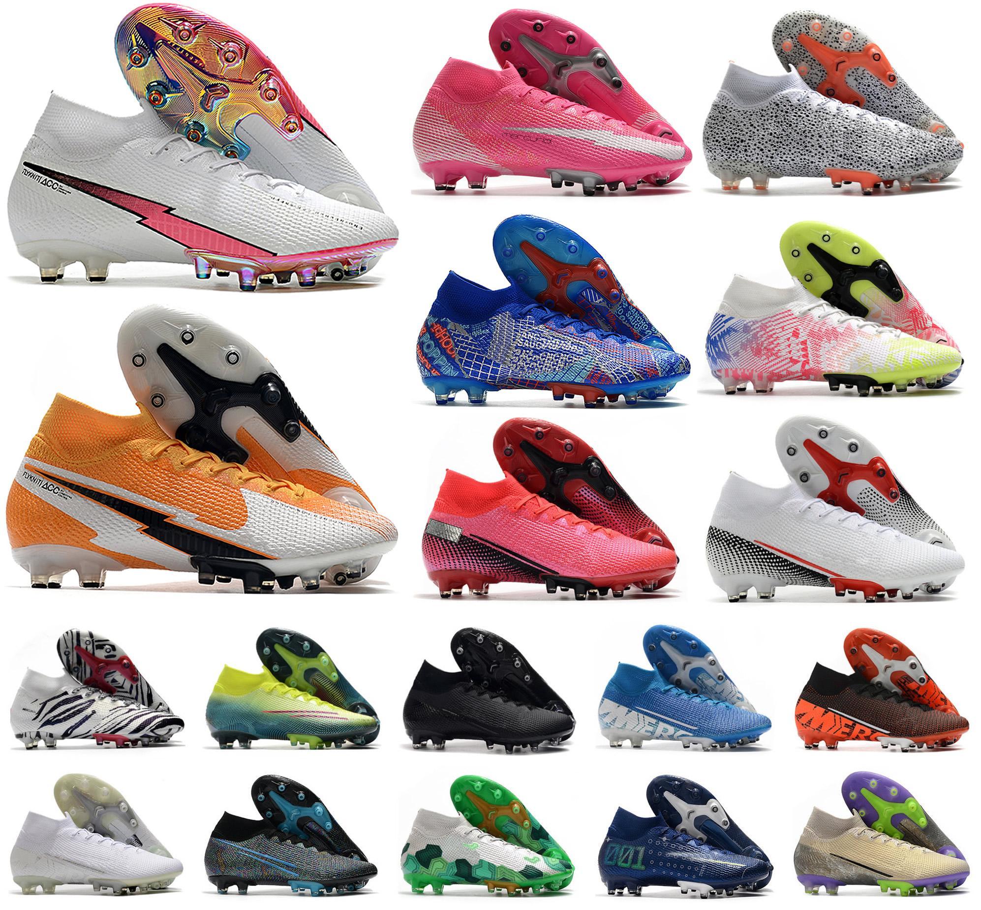 Superfly VII 7 360 Elite SE AG Flaş Crimson Güney Kore CR7 Ronaldo Erkek Erkek Futbol Ayakkabıları Futbol Boots Cleats US6.5-11