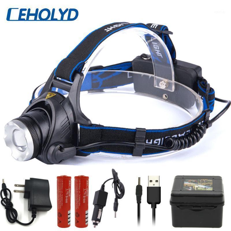 Phare LED phare 6000 Lumen T6 L2 V6 3 MODE Lampe zoomable Lampe étanche Lampe à tête de torche 18650 Pêche à la batterie1