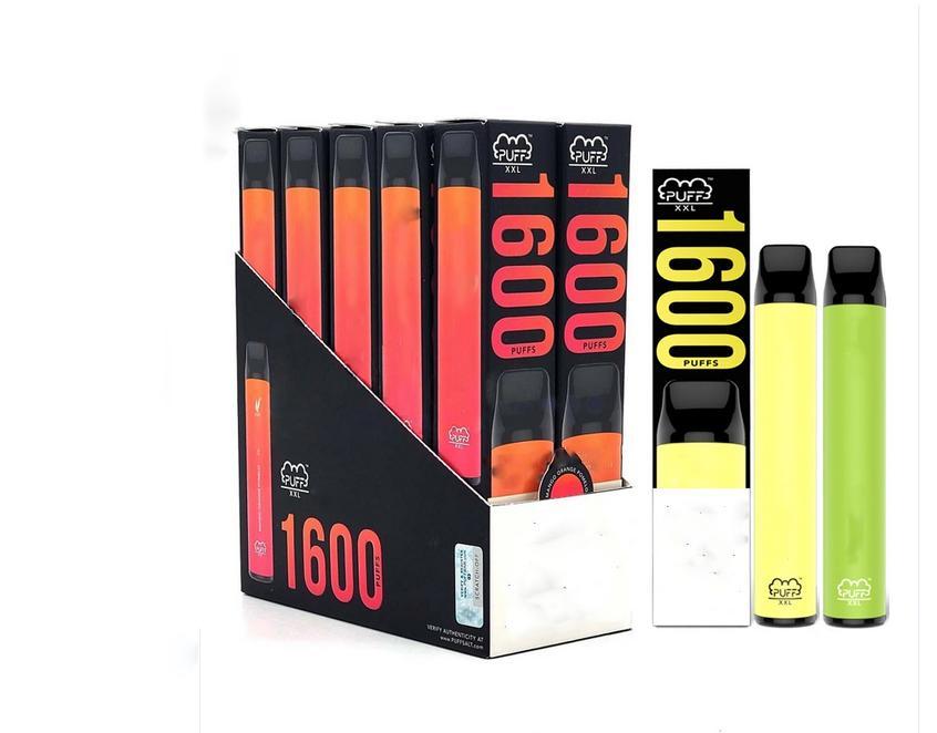 퍼프 XXL 1600 퍼프 일회용 vapes 키트 퍼프 바 XXL vape 펜 퍼프 바 XXL 기화기 전자 담배 카트 일회용 vape