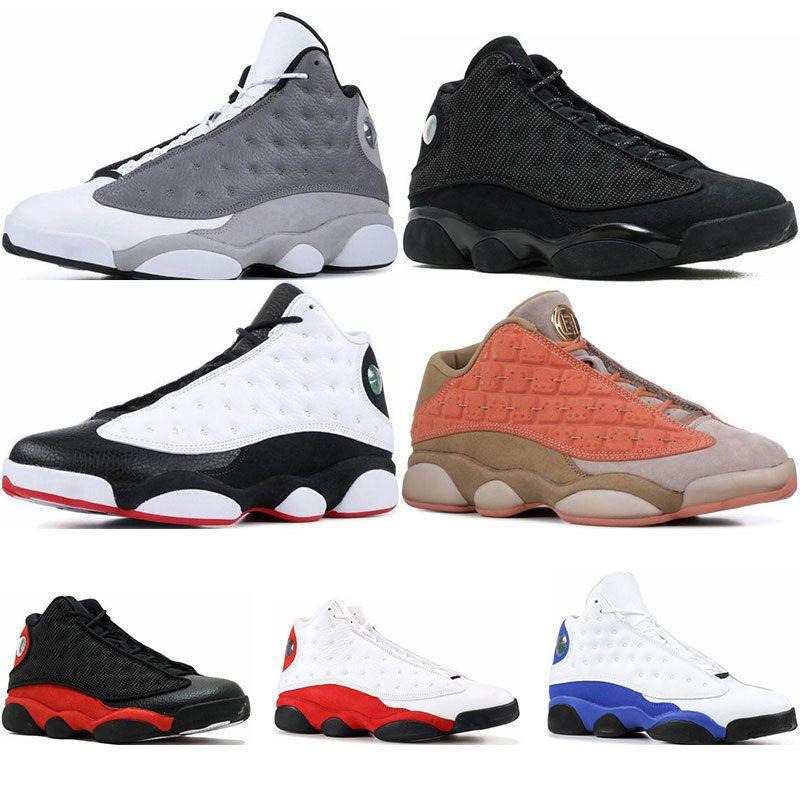 Erkek Basketbol Ayakkabı Atmosfer Grey Pıhtı Terracotta Atletizm Spor Sneaker eğitmenler boyutu 7-13 Bred italya mavi siyah kedi flint