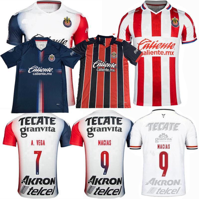 2019 2020 2021 Guadalajara Fußball-Trikots CHIVAS MACIAS I.BRIZUELA O.PERALTA A.VEGA zu Hause weg 3. 20 21 Fußball Männer Frauen Shirt S-4XL