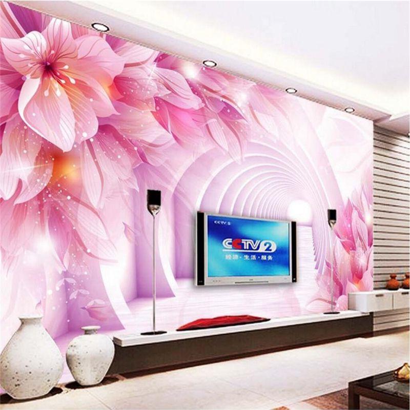 beibehang Fond d'écran mural Wall Sticker 3D 3D Espace texte Fond bande TV mur Peinture décorative Papel de Parede