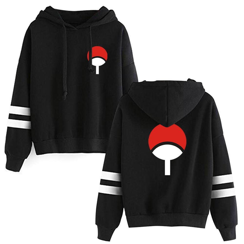 2020 novo anime naruto inverno hoodies velo quente casaco de jaqueta uchiha hatake uzumaki clã crachá moletom com capuz unisex Ypf896