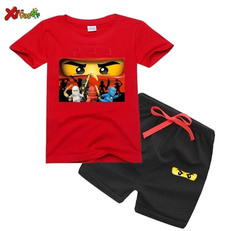 Ragazzi t-shirt set 2020 estate bambini ninjago t camicie in cotone top tees ragazzi ragazze maglietta set ragazzi vestiti estate bambini set t shirt y200829