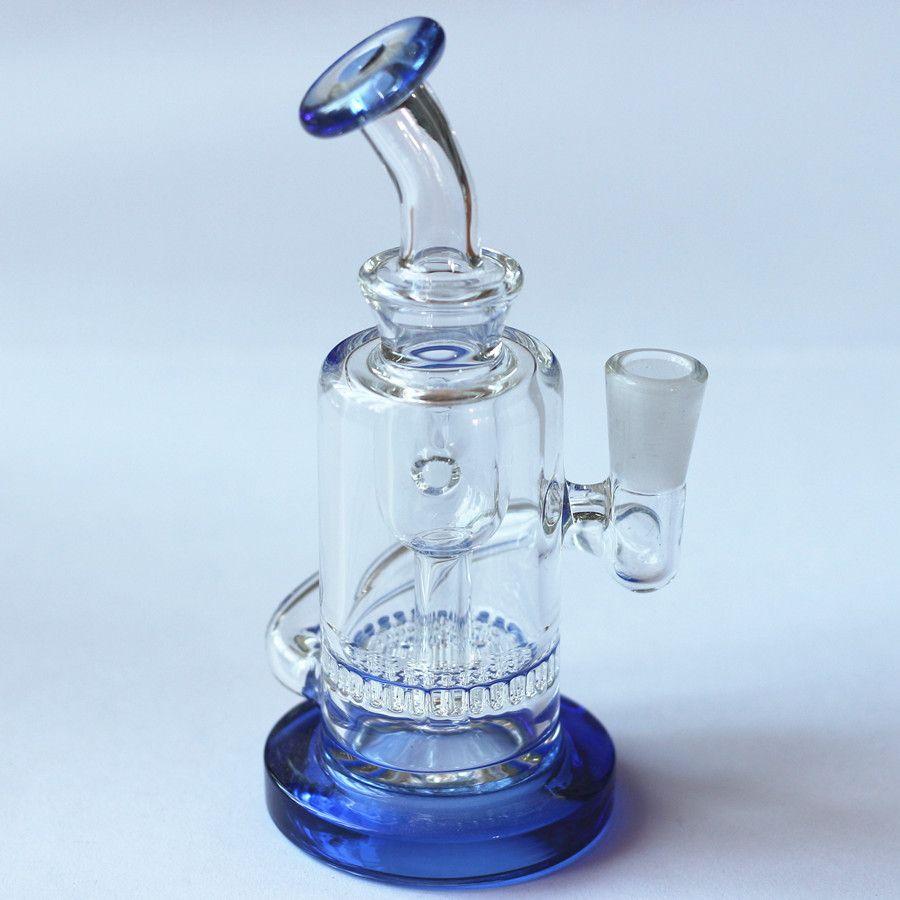 Nuevo 2020 productos de 14 mm Glass Glass Glass Tubos de agua con 10 mm Cuenco de vidrio de vidrio grueso Reciclador de espesor de bonger Bongs para fumar