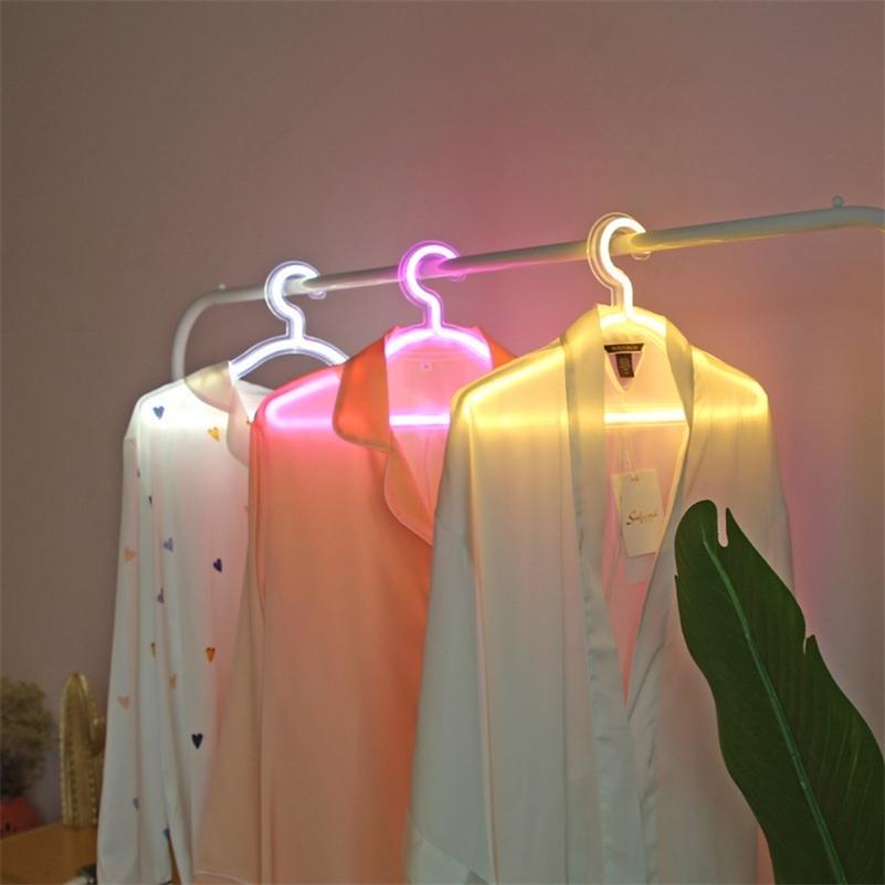 16 pollici LED LED appendiabiti appendiabiti moda notte Segno al neon Pannello posteriore in acrilico trasparente 5V USB con interruttore D30 201225