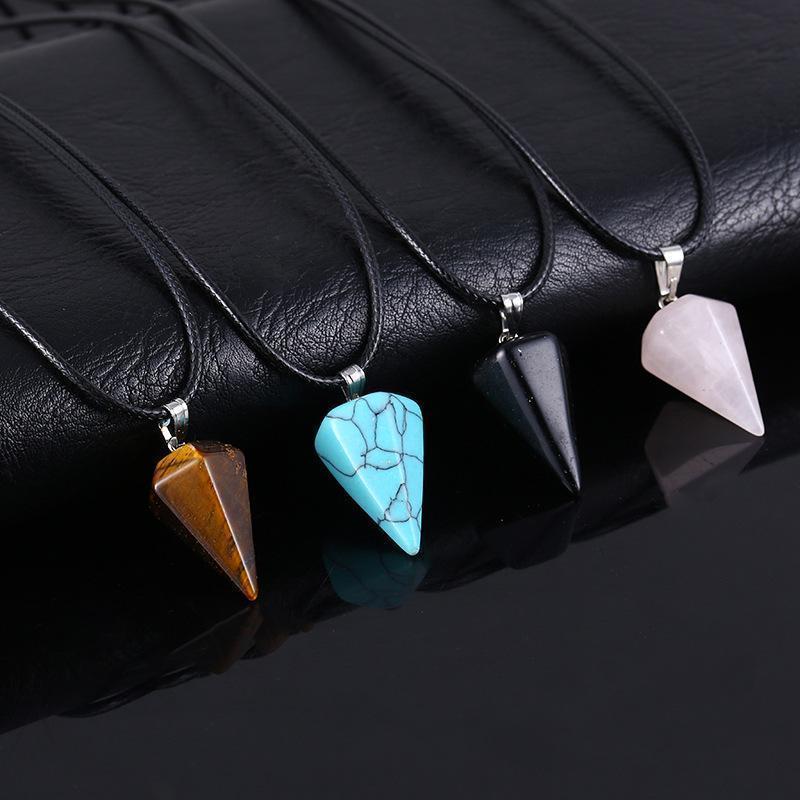 Чакра Amethyst Beach Розовые Ювелирные Изделия Ожерелье Кварцевые Кристаллы Заживление Женщины Мужчины Натуральные Каменные Подвески Legeh87T