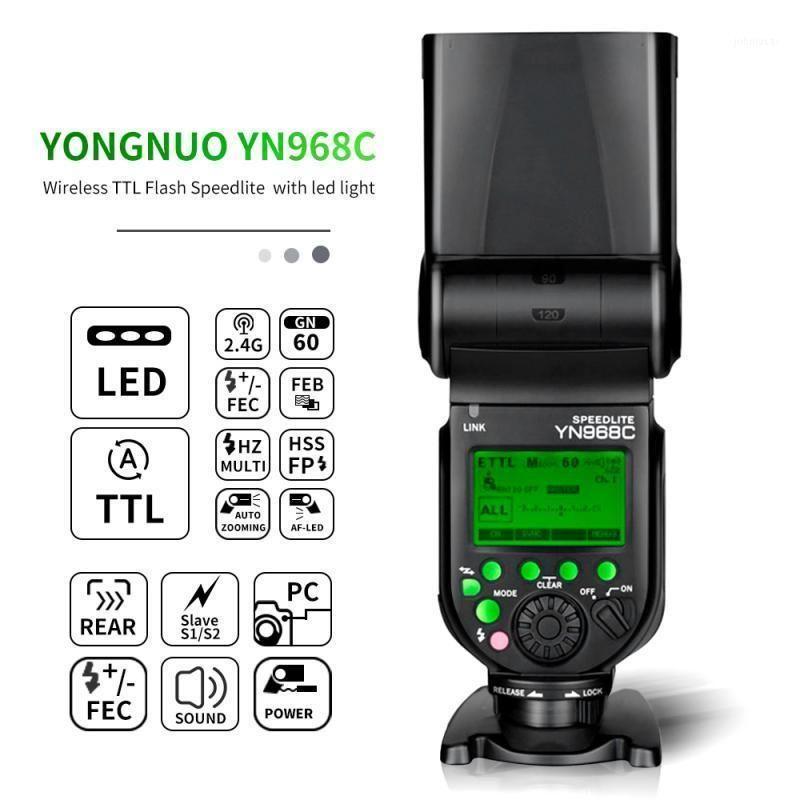 Lampeggia YONGNUO YN968N / C HSS Speedlite con luce LED Flash per DSLR Compatibile YN622N / C YN560 wirelessL1