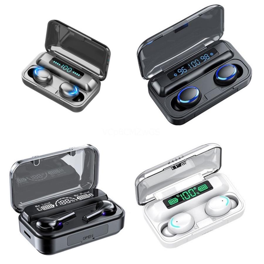 Noise Cancelling Headphones M1 TWS In-ear stereo Bluetooth di sport 5.0 stereo senza fili auricolari Earbuds con la scatola al minuto # 730