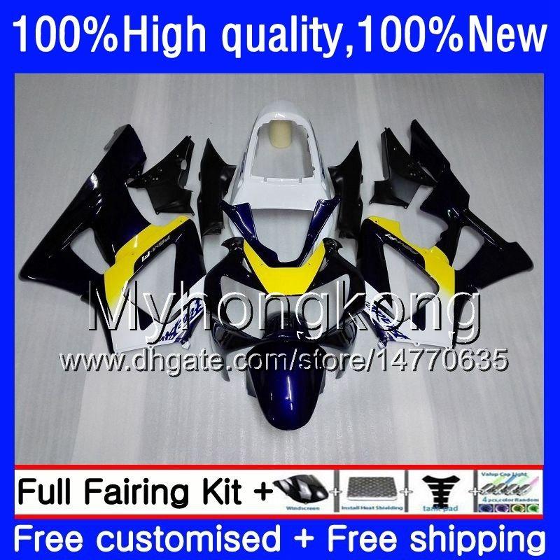 Body For HONDA CBR900 RR CBR 929RR 900CC 929CC 900 929 RR CC 900RR 50HM.0 CBR900RR CBR929RR 00 01 CBR929 RR 2000 2001 Fairings Factory blue