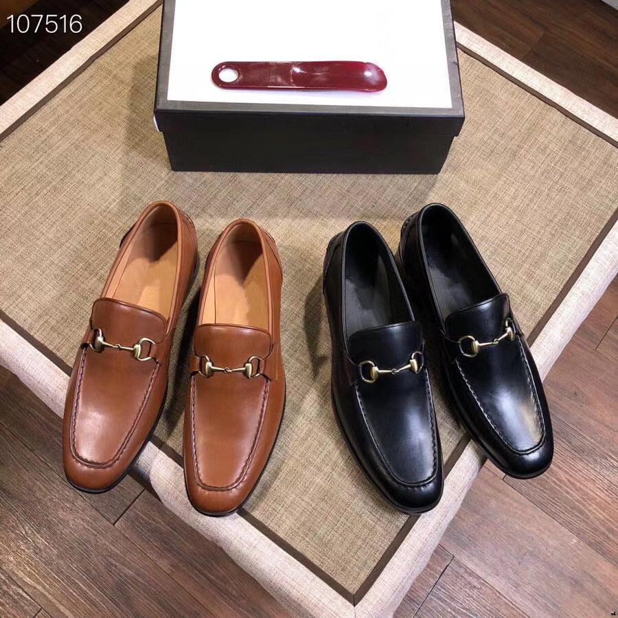 Homme 2020 luxe en cuir véritable concepteur Brogue chausseurs Hommes d'affaires Mode Chaussures Hommes Casual Flats Taille 38-45