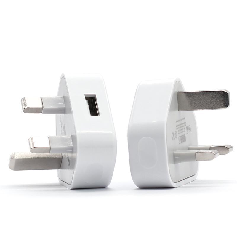 Evrensel İngiltere 3 Pin Şebeke Şarj Adaptörü Tak 5 V 1A İNGILTERE USB Duvar Adaptörü Samsung Galaxy S6 S8 S10 Tablet PC için