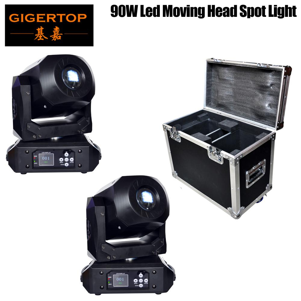 TIPTOP 90W LED Head Moving Light Rotating Gobo 3 Facet Prism DMX512 Sound Activated Master-slave Auto Running 15 Channels