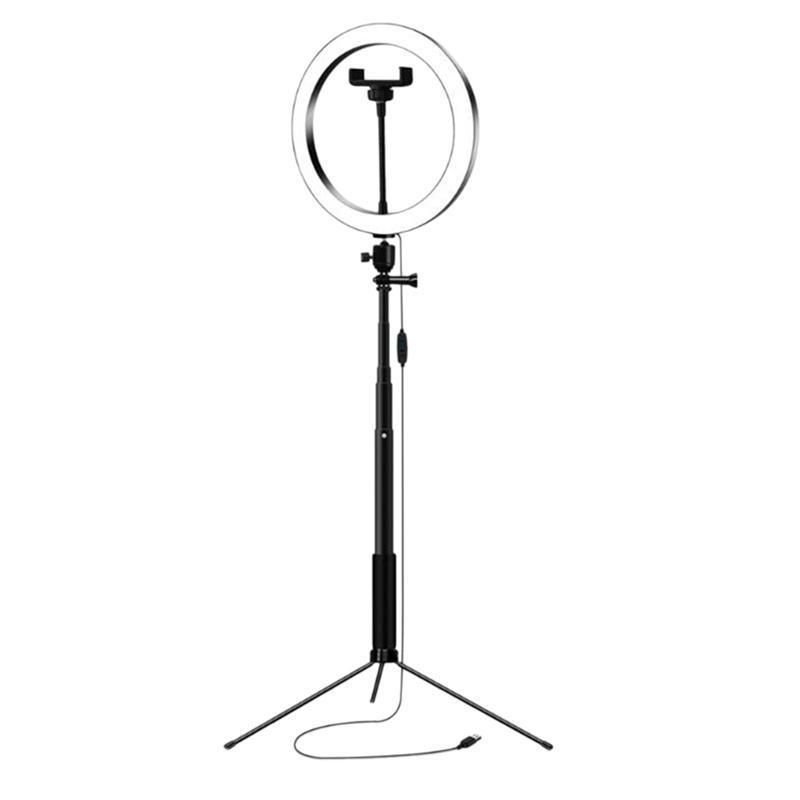 26cm Fotografie Led Selfie Beleuchtung Licht mit Selfie Ständer Stativ USB-Stecker Dimmbare für Make-up Video Live Studio
