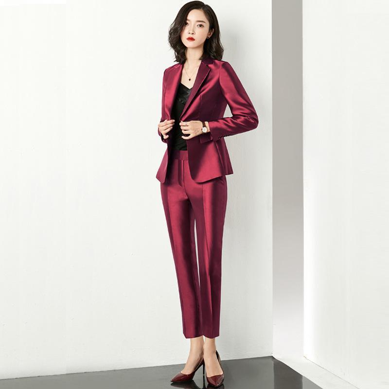 Autunno / inverno 2020 di nuovo modo di stile britannico abiti da lavoro piccolo abito tuta professionale hostess