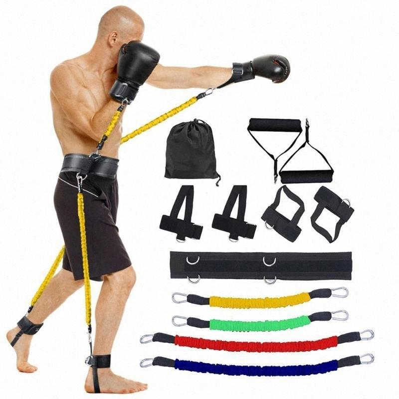 Sport fitness resistenze bande set per gamba e braccio esercitazioni boxe home palestra rimbalzando resistenza attrezzature di allenamento X115A Pvke # EA