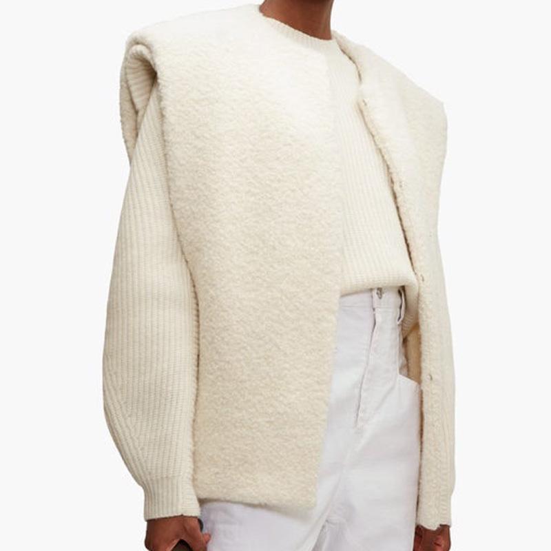 Mulher mistura mulheres casaco outono inverno novo O-pescoço sem mangas senhora selvagem casaco 201015