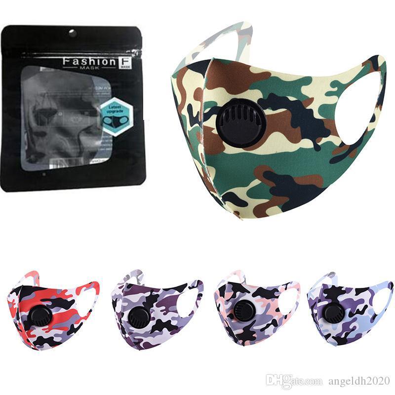 Fashion Ice Silk Maske 3D Breath staub- und Sonnenschutz Waschbar Cotton Cartoon Maske Drucken Versandkosten