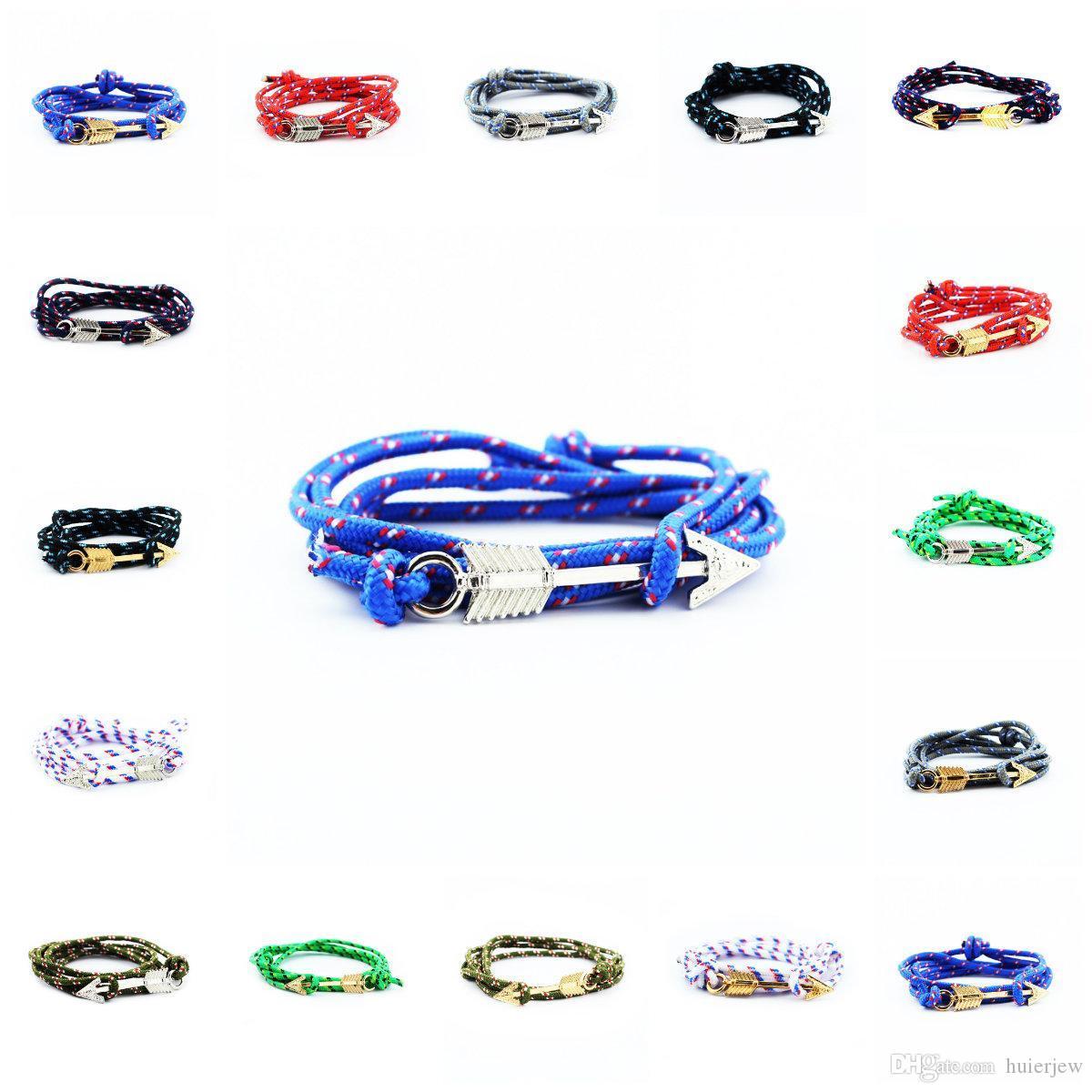 Infinity joyería pulsera pulseras para los hombres Fish Hook Nueva Infinity pulseras al por mayor del abrigo de la cuerda pulsera Infinity