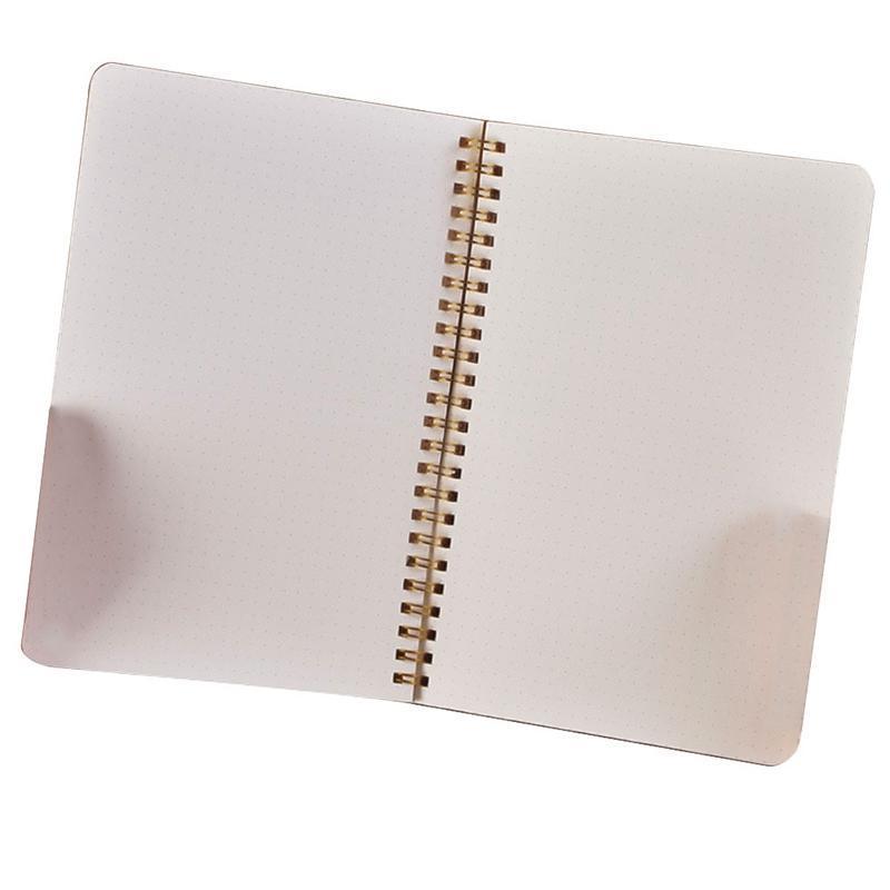 2021 جديد A5 Notebook متوسط غلاف فني 50 ورقة / 100pages Dot Grid Journal White للطلاب