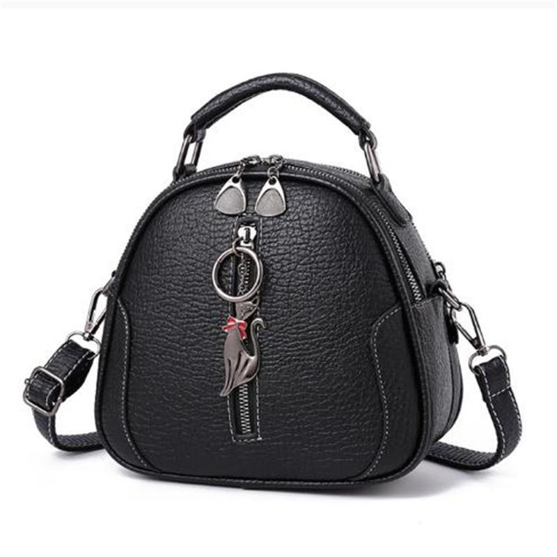 Mujeres Crossbody Bage Lady Small Shell Bag Vintage Alta Calidad PU Sólido PU Bolso de hombro