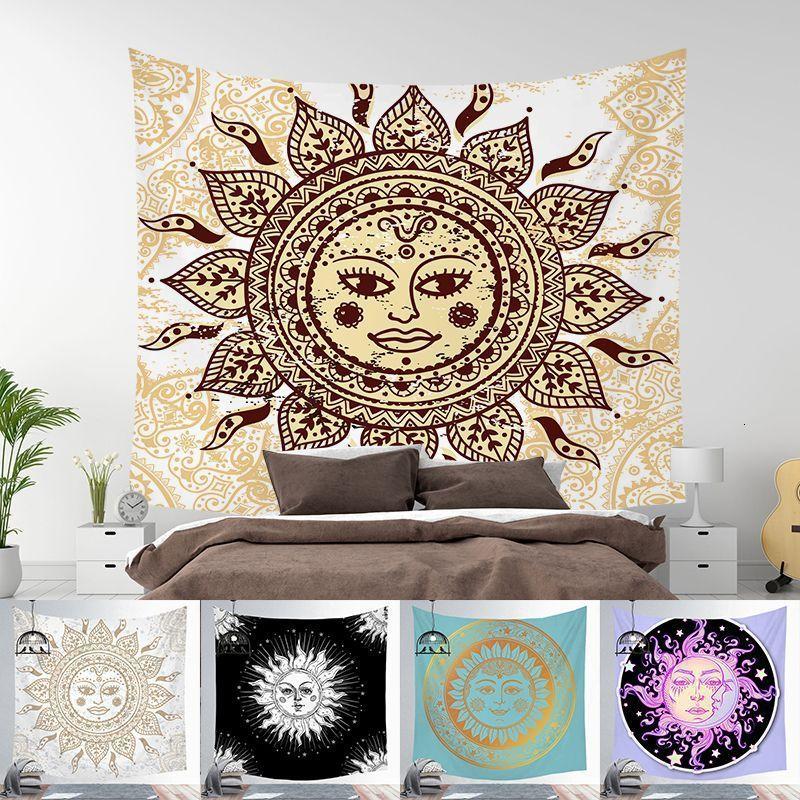 Wind, Sonne, Nordic glänzend Tarot Tapisserie Quadrat Hauptdekoration Hintergrund Wand hängen Tuch