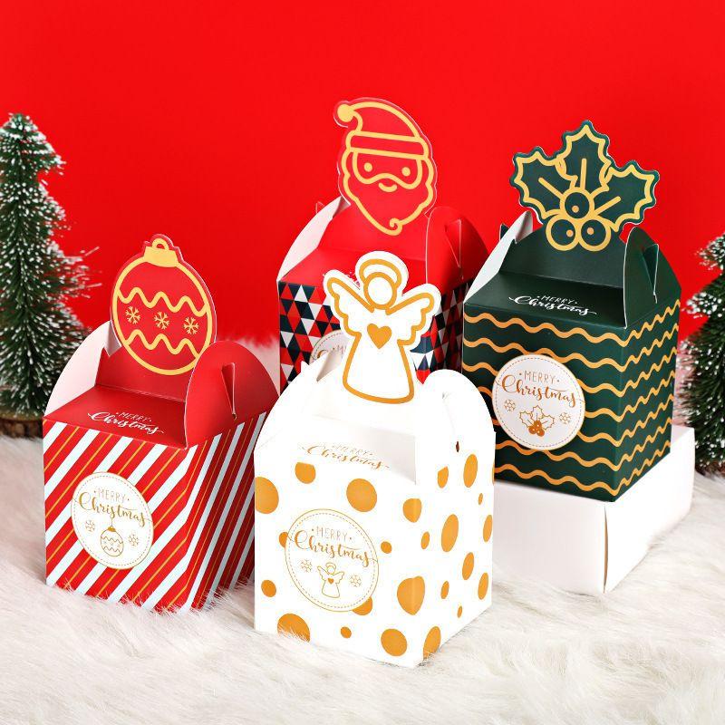عيد ميلاد سعيد ورقة مربعات مربع جديد الكرتون الإبداعية هدية مربع ليلة عيد الميلاد بقعة مربع التعبئة والتغليف الفاكهة آمن