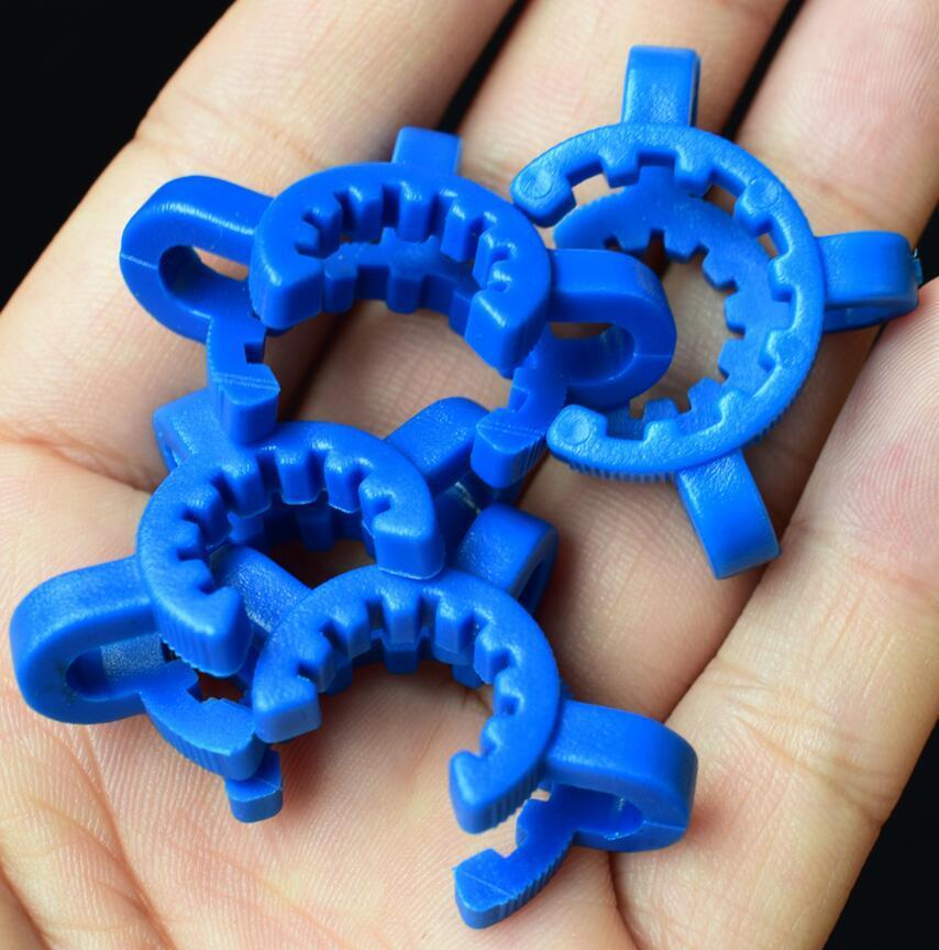 DHL 14mm 19mm Joint Nectar Collector Collector Plastica Keck Clips Laboratorio Lab Bong Bong Clip per il vetro Adattatore a discesa Adattatore Mini tubo di vetro