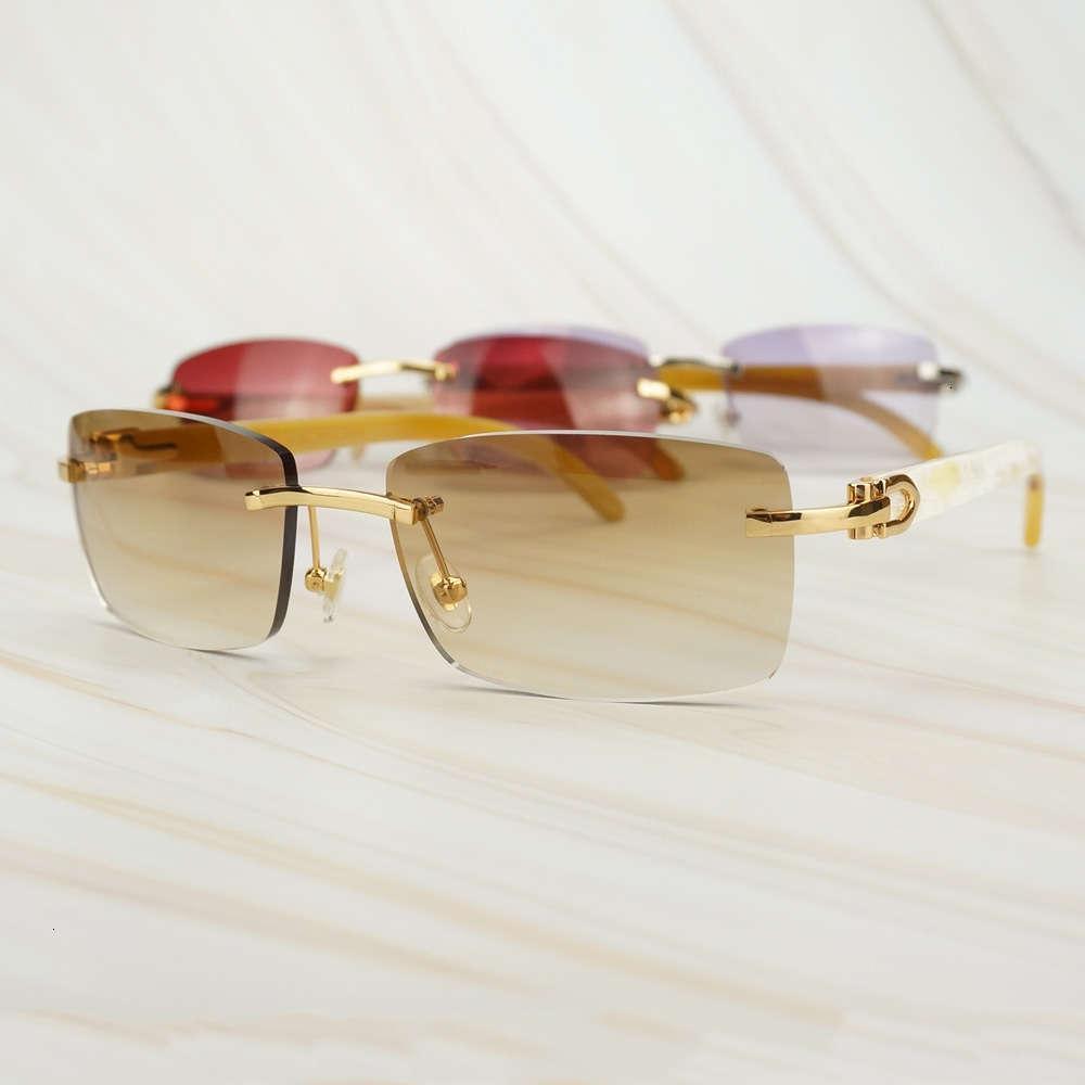 Модные роскошные мужские дизайнерские женщины Buffalo Horns Очки для езды Картер Джентльмены Солнцезащитные очки