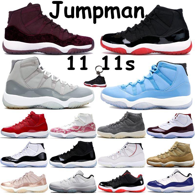 Разводит Jumpman 11 баскетбола обувь мужской 11s спортивных кроссовок Pantone прохладной серый Concord наследница ночь бордовой низкой легенда синего вишня Chaussures