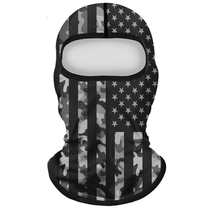 Factory Factory American Dust-Proof Bandera Impresión de la moda a prueba de viento Hood de la pantalla solar Cantidad de camuflaje Máscara de ciclismo Reutilizable Washabl 2 RSJKA