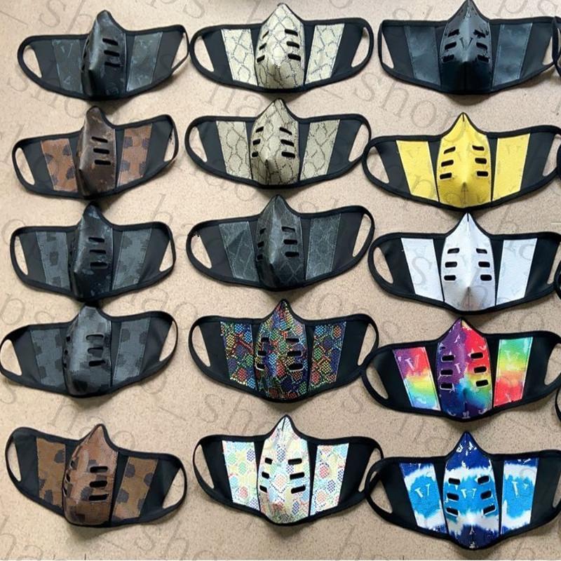 Unisex Gesichtsmasken Mode PU Leder Gesichtsmaske staubdicht winddicht Mundmuffel waschbar atmungsaktive Outdoor Sports Schutzmaske 28 Farben