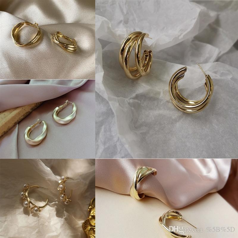 ZL7Z Fashion Gold Stud Pendientes EvilFashion Womens Pendiente Pendientes Pendientes Pendientes de Rhinestone Pendientes combinados
