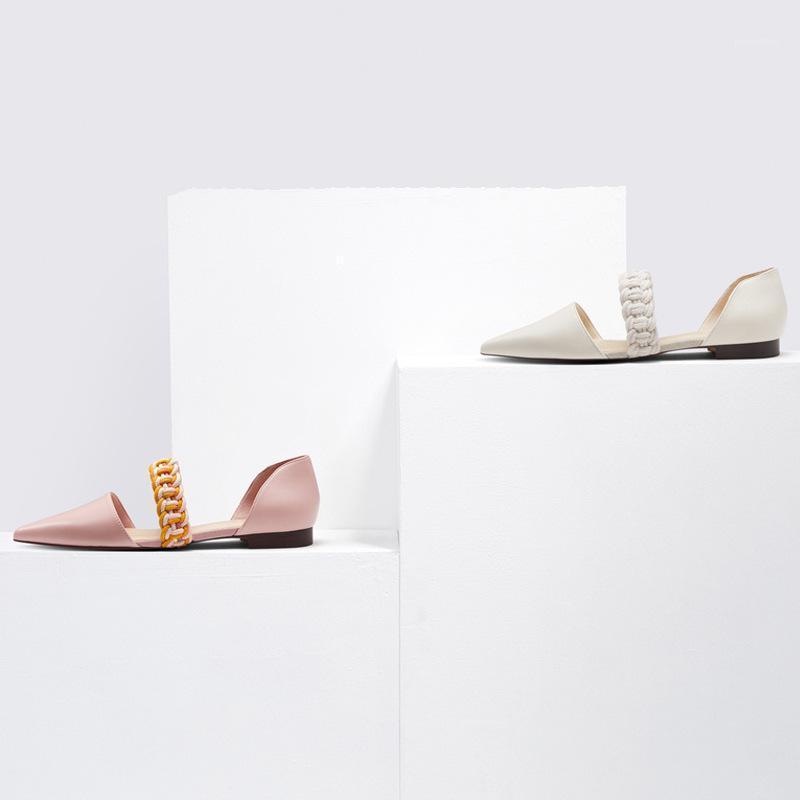Сандалии 2021 весенние плоские туфли заостренной обуви1