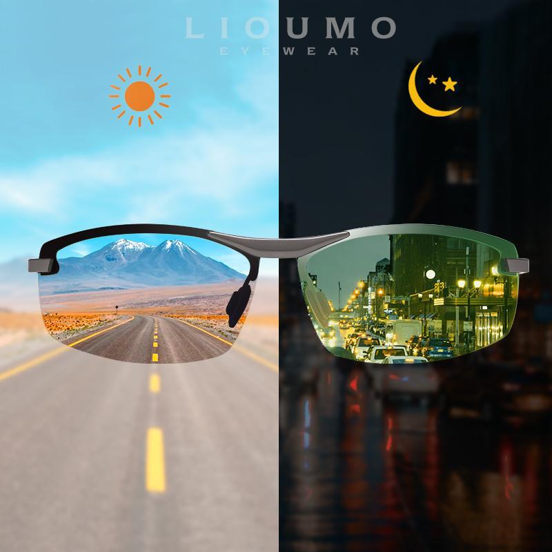 Lunettes de soleil Journight Lunettes de soleil Chameleon PhotoChromique Nouveau UV400 Hommes Conduite de lunettes polarisées Lioumo Gafas Sol de Hombre NCCWH