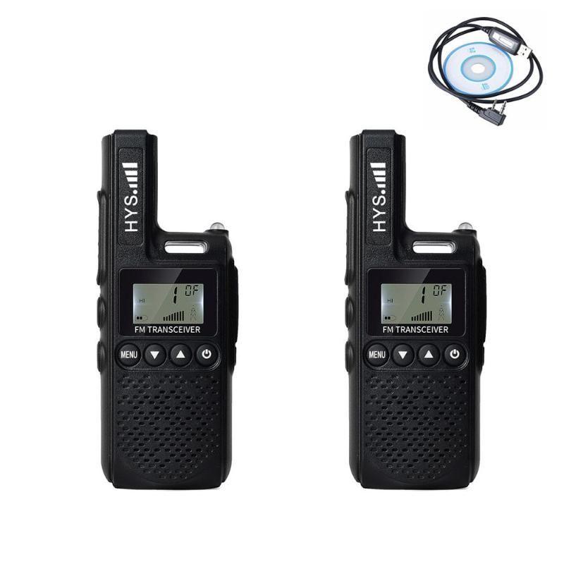 Walkie Talkie Hys 2PCS Mini Candheld UHF 400-480 МГц 99 канал 2 Вт Портативная ветчина FM двусторонняя радио